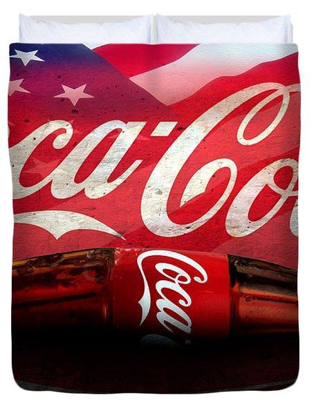 Coke Ads Life Duvet Cover