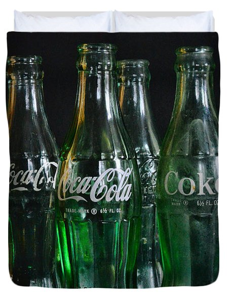 Coke Bottles From The 1950s Duvet Cover