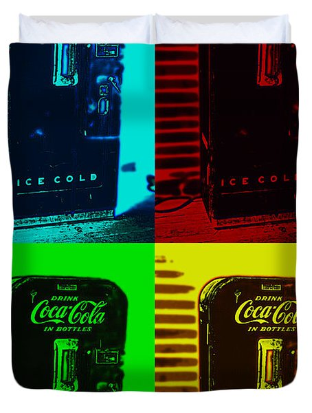 Coke Poster Duvet Cover by Kevin Fortier