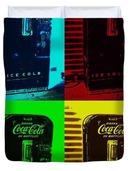 Coke Poster Duvet Cover