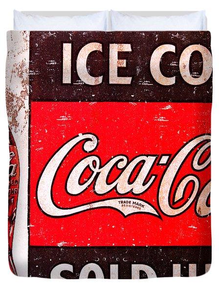 Coke Duvet Cover by Reid Callaway
