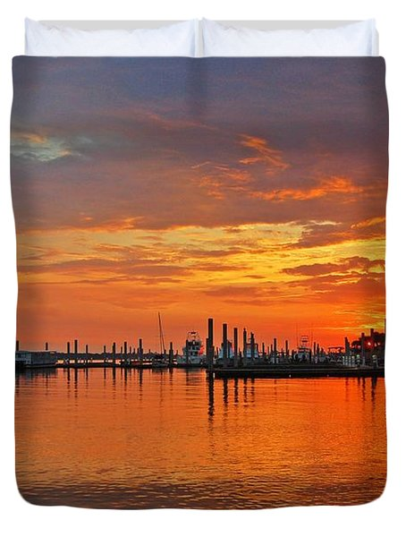 Duvet Cover featuring the digital art Colbalt Morning by Michael Thomas