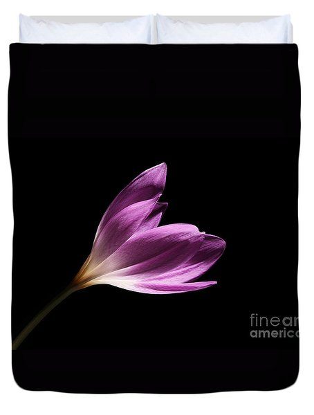 Duvet Cover featuring the photograph Colchicum  by Judy Whitton