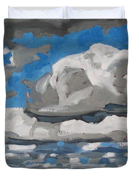 Cold Air Mass Cumulus Duvet Cover
