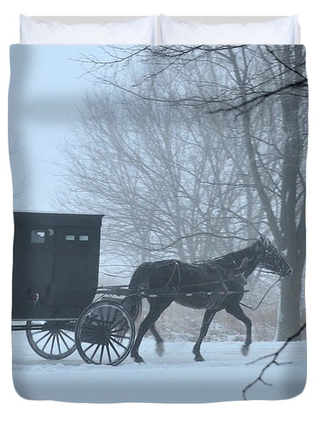 Cold Amish Morning Duvet Cover