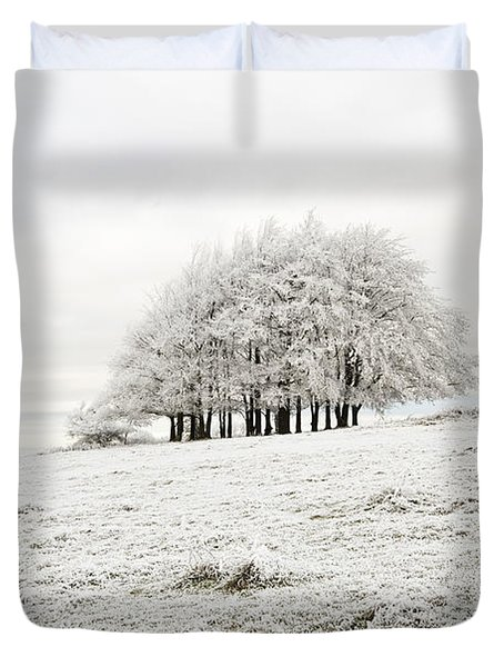 Cold Duvet Cover by Anne Gilbert