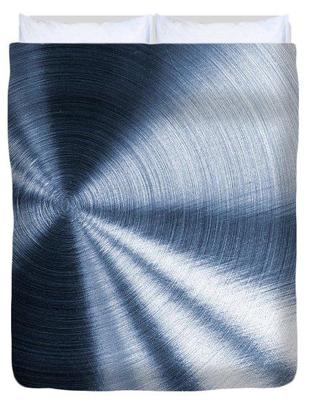 Cold Blue Metallic Texture Duvet Cover