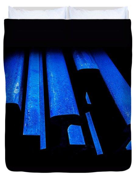 Cold Blue Steel Duvet Cover by Steven Milner