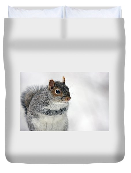 Cold Hands Duvet Cover by Karol Livote