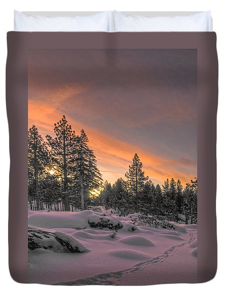 Cold Morning Duvet Cover