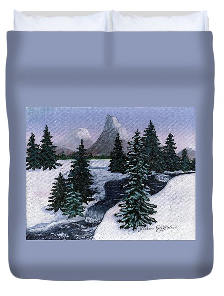 Cold Mountain Brook Duvet Cover by Barbara Griffin