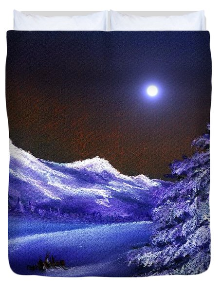 Cold Night Duvet Cover by Anastasiya Malakhova