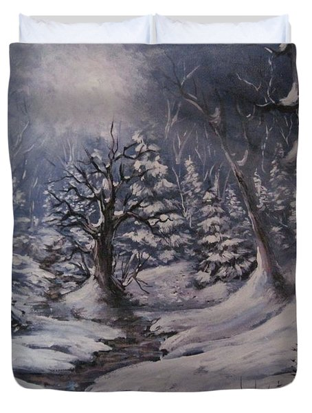 Cold Snap Duvet Cover by Megan Walsh