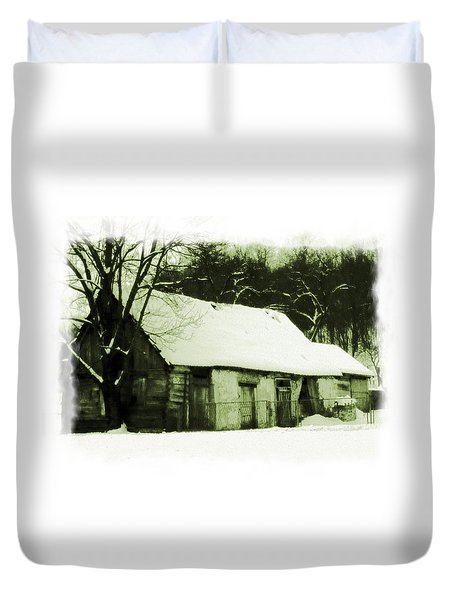 Countryside Winter Scene Duvet Cover