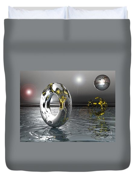 Cold Steele Duvet Cover
