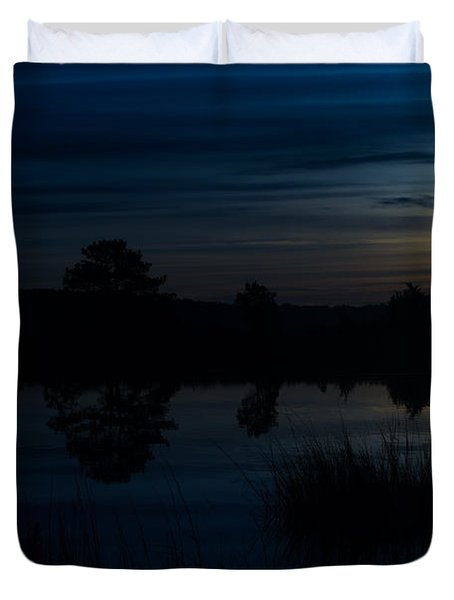 Cold Winter Morning Duvet Cover by Angela DeFrias