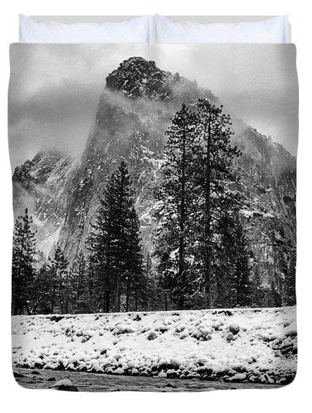 Cold Winter Morning Duvet Cover by Cat Connor