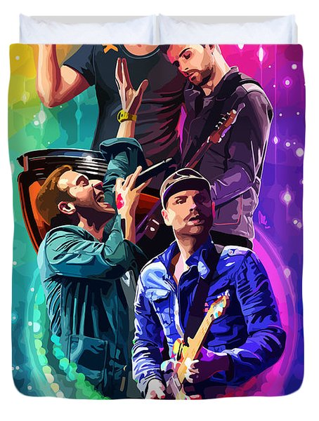 Coldplay Mylo Xyloto Duvet Cover by FHT Designs