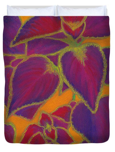 Coleus Gone Wild Duvet Cover