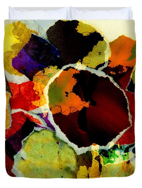 Collage Art Torn Paper  Duvet Cover