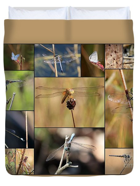 Collage Marsh Life Duvet Cover