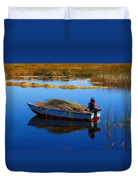 Collecting Reeds Duvet Cover