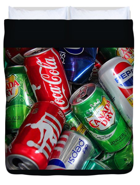 Collection Of Cans 04 Duvet Cover by Andy Lawless