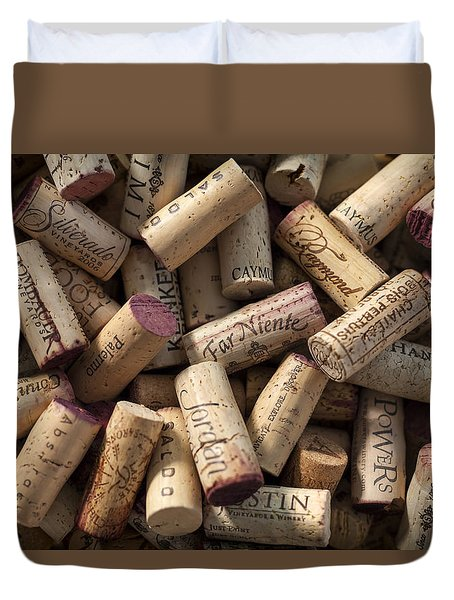 Collection Of Fine Wine Corks Duvet Cover