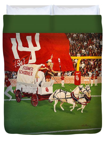 College Football In America Duvet Cover