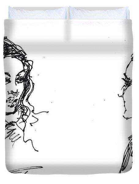 College Girls Duvet Cover