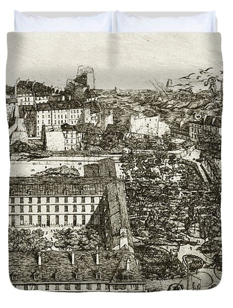College Henri Iv And The Lycee Napoleon Duvet Cover