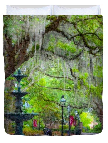College Of Charleston Duvet Cover