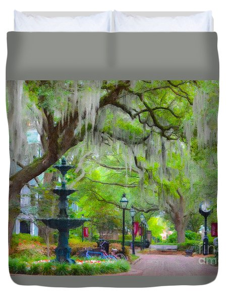College Of Charleston Duvet Cover