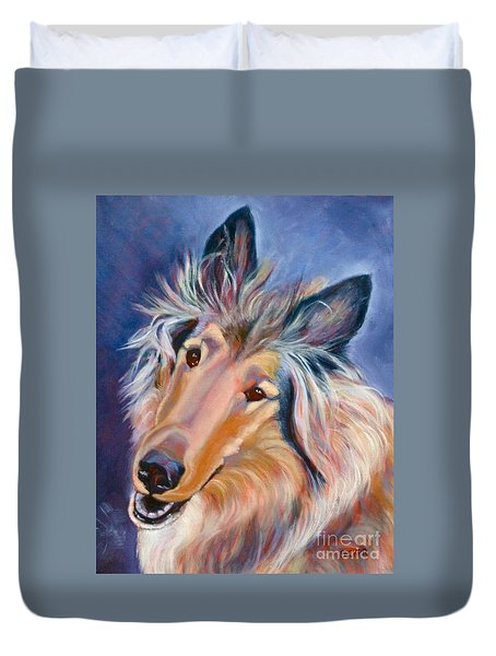 Collie Star Duvet Cover
