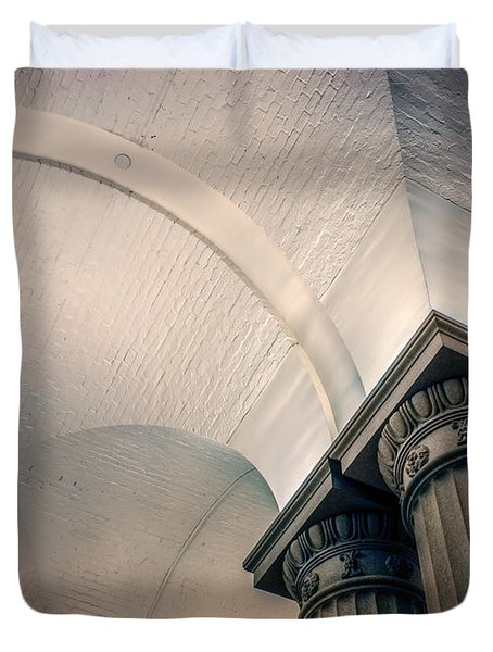 Duvet Cover featuring the photograph Columns by Rob Sellers