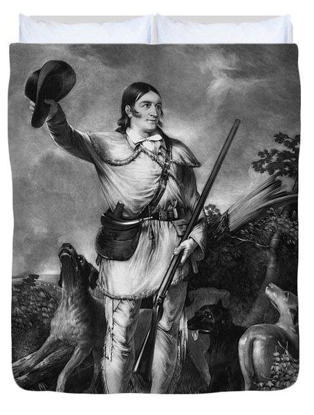 Colonel Davy Crockett Duvet Cover