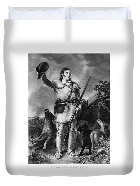 Colonel Davy Crockett Duvet Cover by War Is Hell Store
