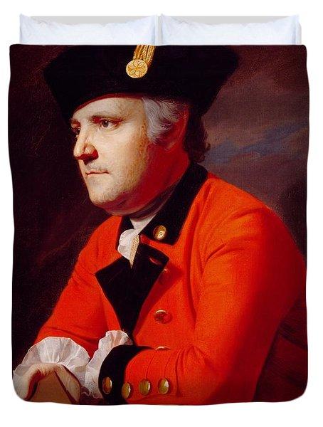 Colonel John Montresor Duvet Cover by John Singleton Copley
