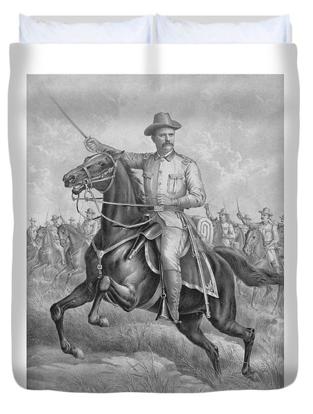 Colonel Roosevelt Leading Troops Duvet Cover by War Is Hell Store
