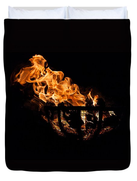 Fire Cresset Two Duvet Cover