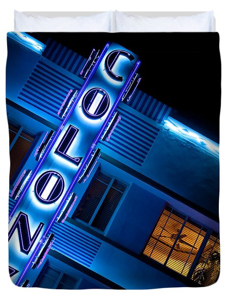 Colony Hotel 1 Duvet Cover by Dave Bowman