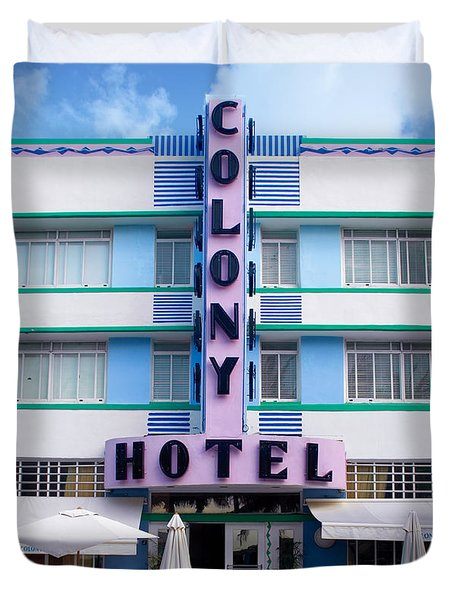 Colony Hotel Daytime Duvet Cover