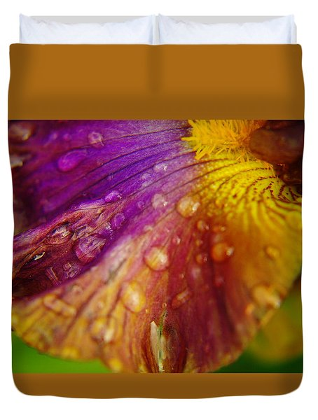 Color And Droplets Duvet Cover by Jeff Swan