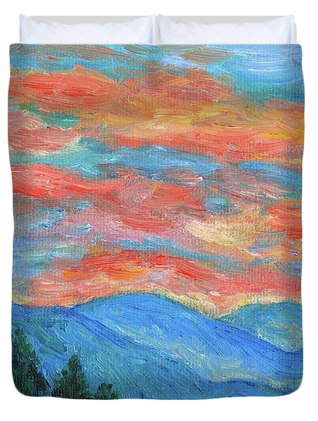 Color Blast Duvet Cover by Kendall Kessler