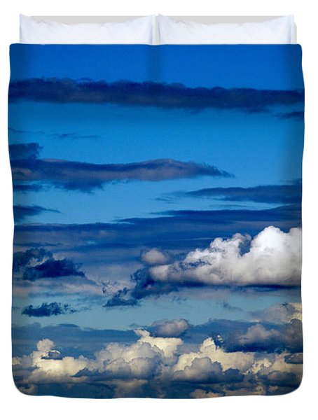 Color Burned Clouds Duvet Cover