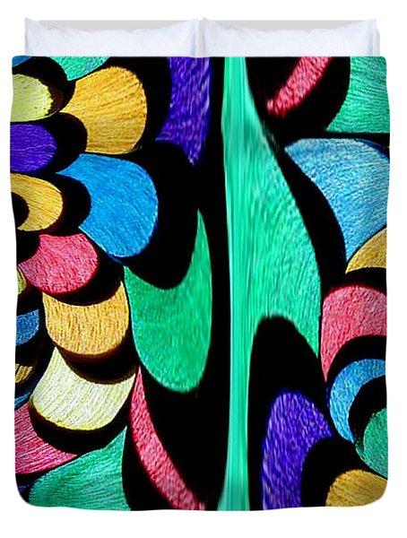 Duvet Cover featuring the digital art Color Dance by Rafael Salazar