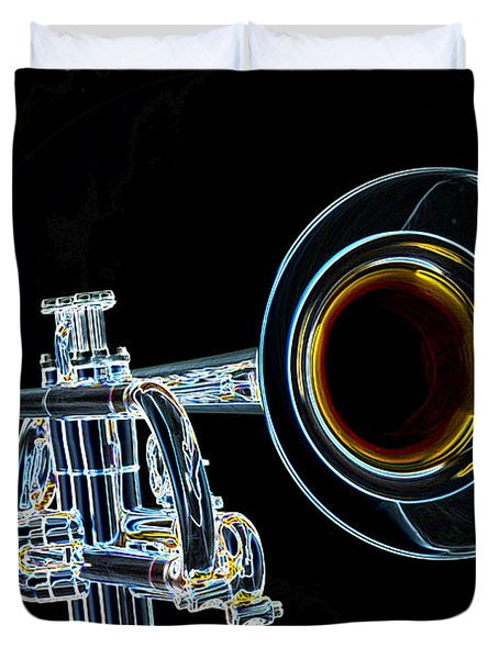 Color Drawing Of A Trumpet Bell Isolated 3018.05 Duvet Cover