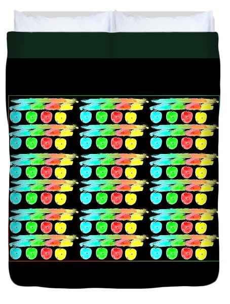 Color Etching Crayon Memories Duvet Cover