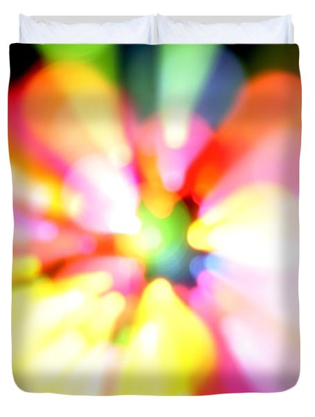 Color Explosion Duvet Cover by Les Cunliffe