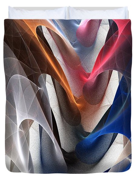 Color Fold Duvet Cover by Anastasiya Malakhova